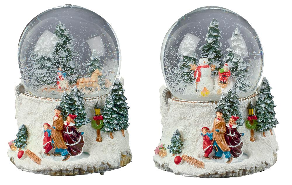 100cm Musical Wind-Up Christmas Waterglobe