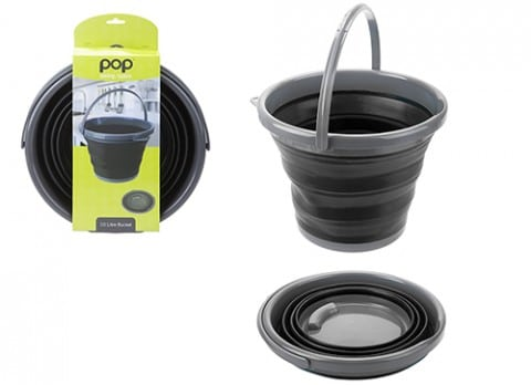 Summit Pop! 10L Collapsible Bucket with Handle Black