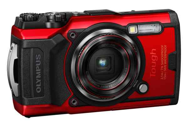 Olympus TG-6 12MP 4x Zoom Tough Compact Camera, 32GB SD Card & Case – Red