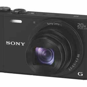 Sony DSC-WX350 18MP 20x Zoom Compact Camera - Black