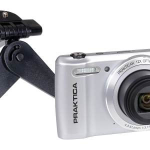 PRAKTICA Luxmedia Z212 20MP 12x Zoom Compact Camera with FREE Universal Pocket Sized Desktop Tripod – Silver