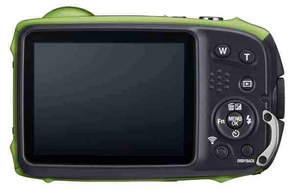 Fujifilm Finepix XP140 16.4MP 5x Zoom Tough Compact Camera, Bicycle Mount, Large Suction Mount & Case – Lime Green