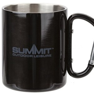 Summit 300ml Carabiner Handled Mug – Black