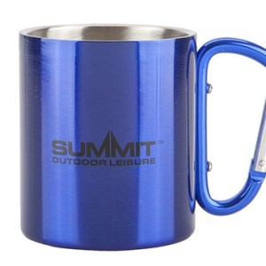 Summit 300ml Carabiner Handled Mug – Blue