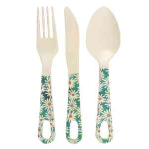 Oops A Daisy Bamboo Cutlery Set