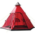 Yellowstone – Festival Four Person Tipi Tent Red