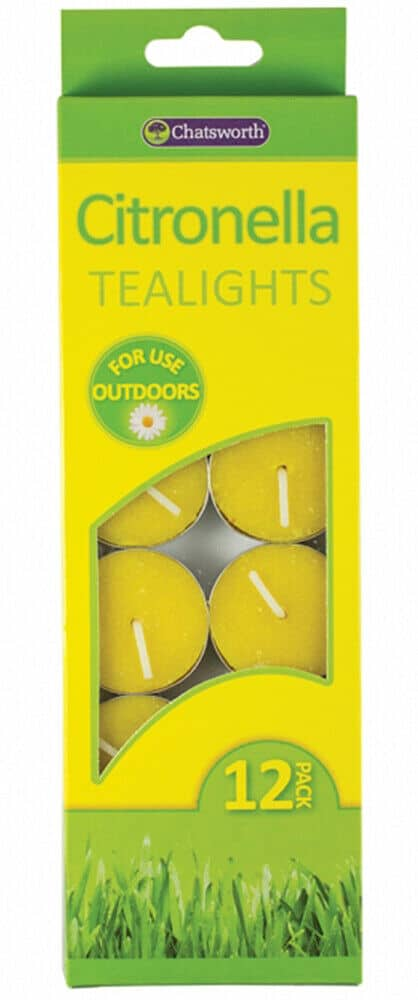 Citronella Tealights Anti Mosquito Bug Insect Outdoor Use
