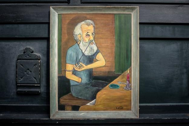 1: portrait of Ed Balchowsky / 2: portrait of Sarge