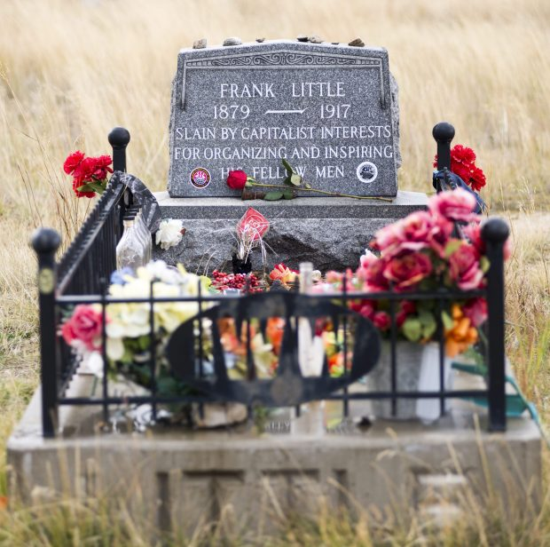Frank Little's gravesite in Mountain View Cemetery in Butte.