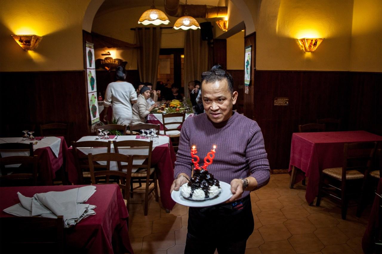 Romulo S. Sabio at Manila Restaurant.