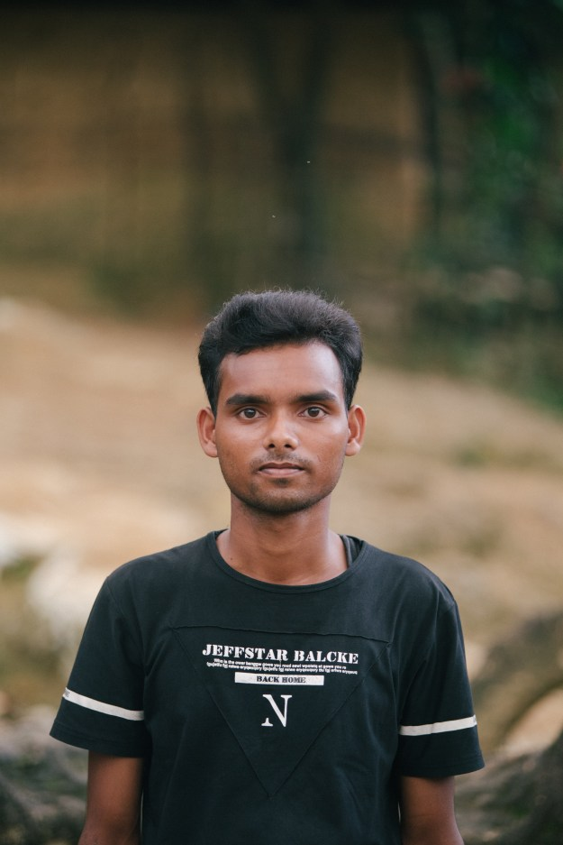 """""""My name is Mohammed Shofi. I am 20 years old and from Buthidaung, Burma. The Burmese military came into my village and started to round up and shoot many men and women. I want the world to call for justice for what happened and for action to be taken for the people that died."""""""