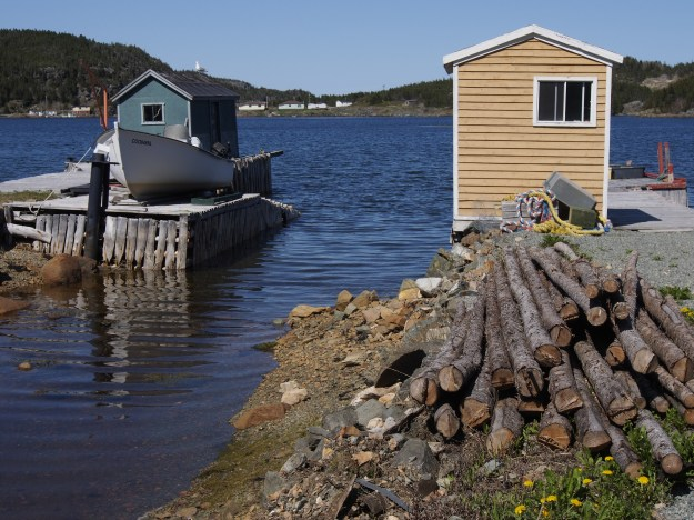 Docks on the island. Basic services are a 45-minute ferry ride away.