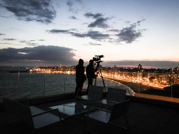 DP Fred Menou shoots Montevideo at night.