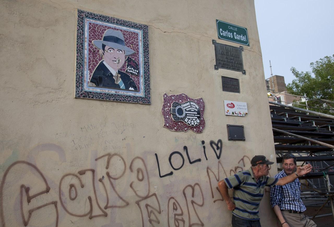 The corner of Carlos Gardel street in Montevideo, Uruguay. By Julio Etchart/ullstein bild via Getty Images.