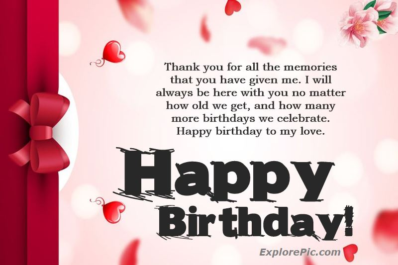 100 Romantic Birthday Wishes For Love Messages Explorepic