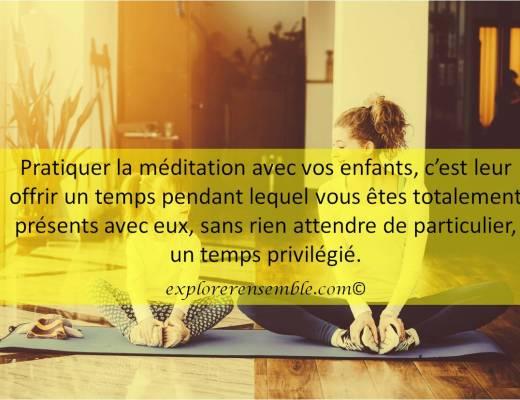 yoga méditation avec enfants