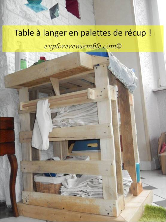 construire une table de change en palettes récupération