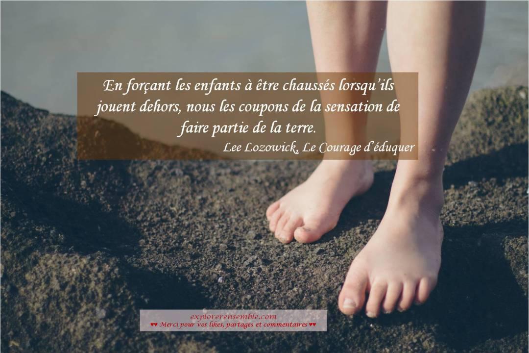 éducation consciente pieds nus