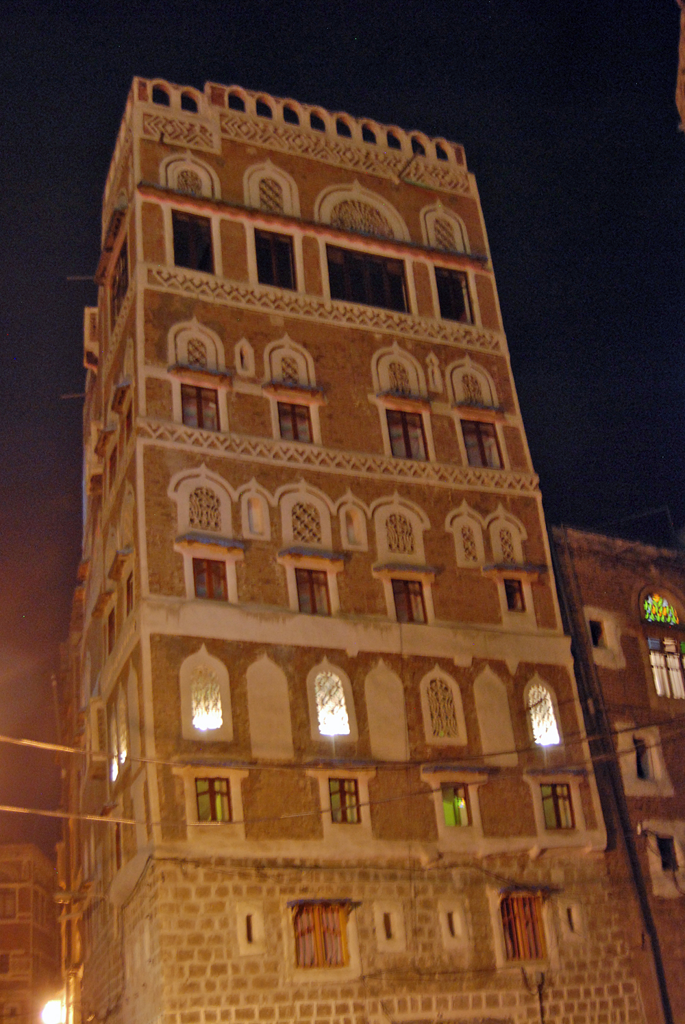 This is the house where I had my apartment in the Old City, see the lights...that is the mafrag....