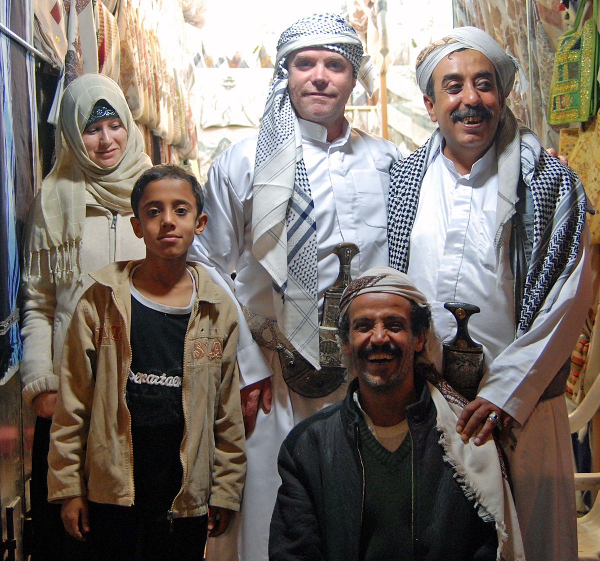 Me together with friends in the souk.....