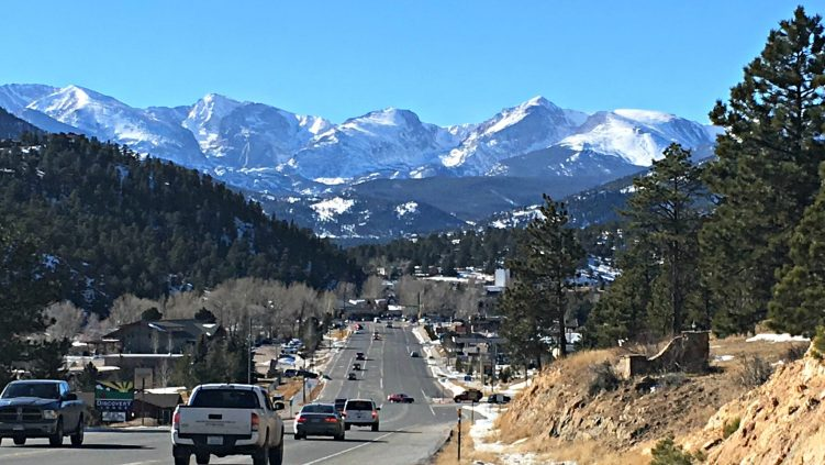 View of Estes Park, Colorado