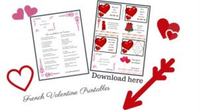French Valentine printables