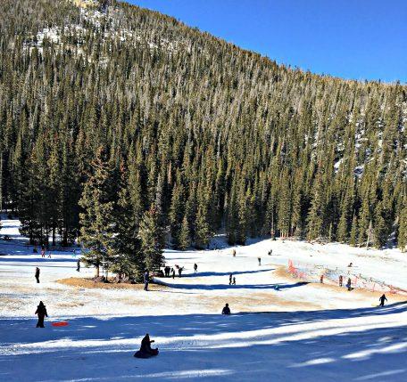 Hidden Valley sledding in Rocky Mountain National Park