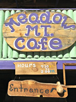 Meadow Mt Cafe sign