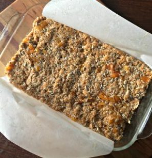 Pan of gluten free granola bars