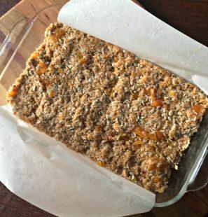 Pan of gluten free granola bars