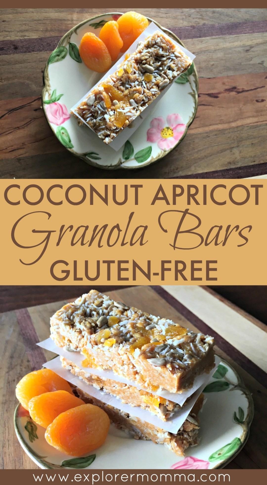 Coconut Apricot Gluten Free Granola Bars | Explorer Momma