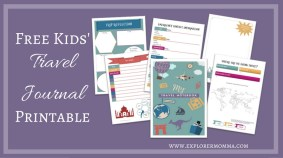 Free kids' travel journal printable