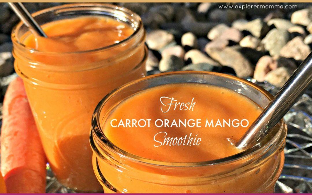 Fresh Carrot Orange Mango Smoothie