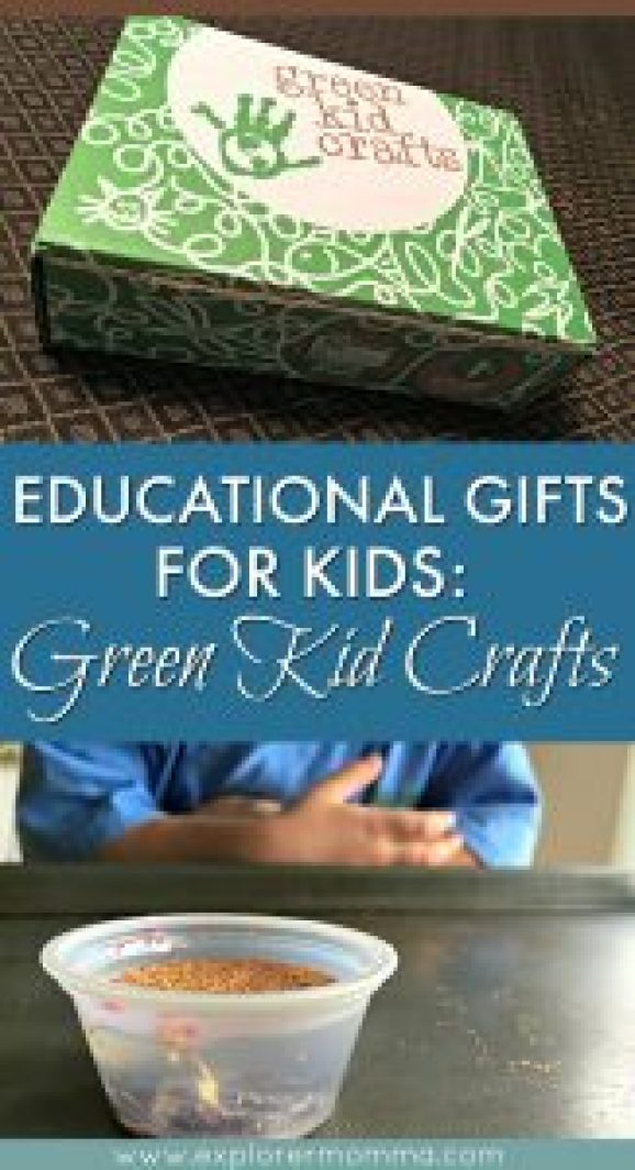Green kid crafts pin