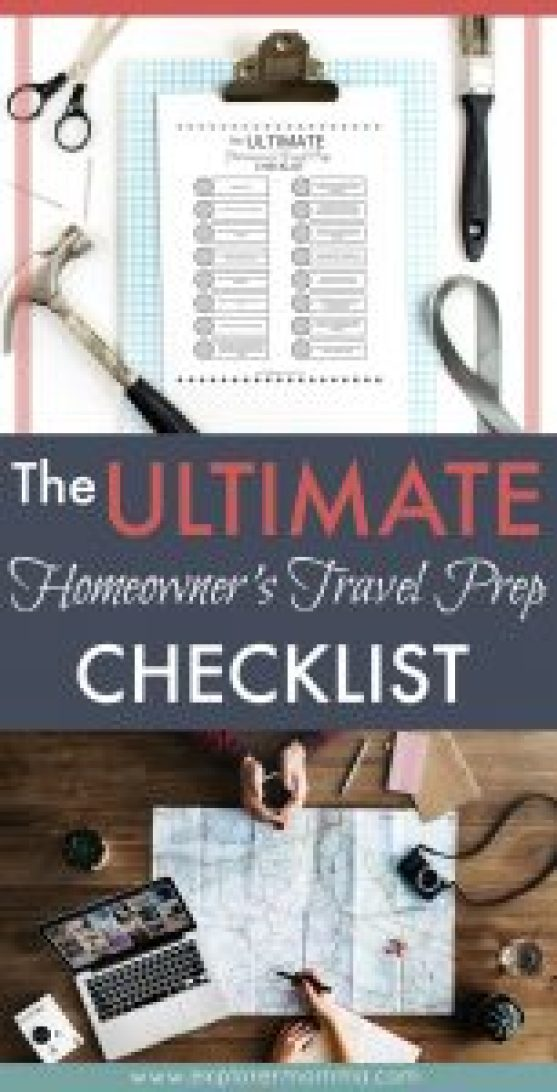 Homeowner's Travel checklist