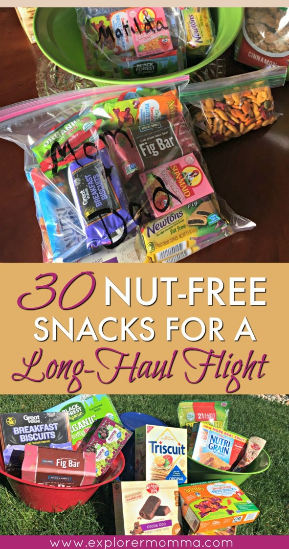 Nut-free snacks for a long-haul flight