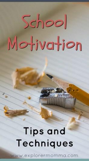 School Motivation pin