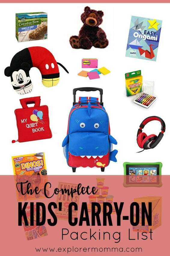 Kids' carry-on pin
