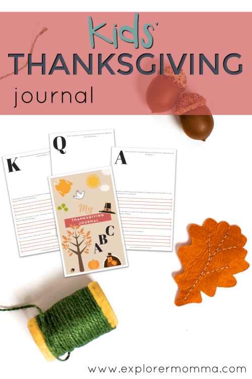 Kids' Thanksgiving Journal pin