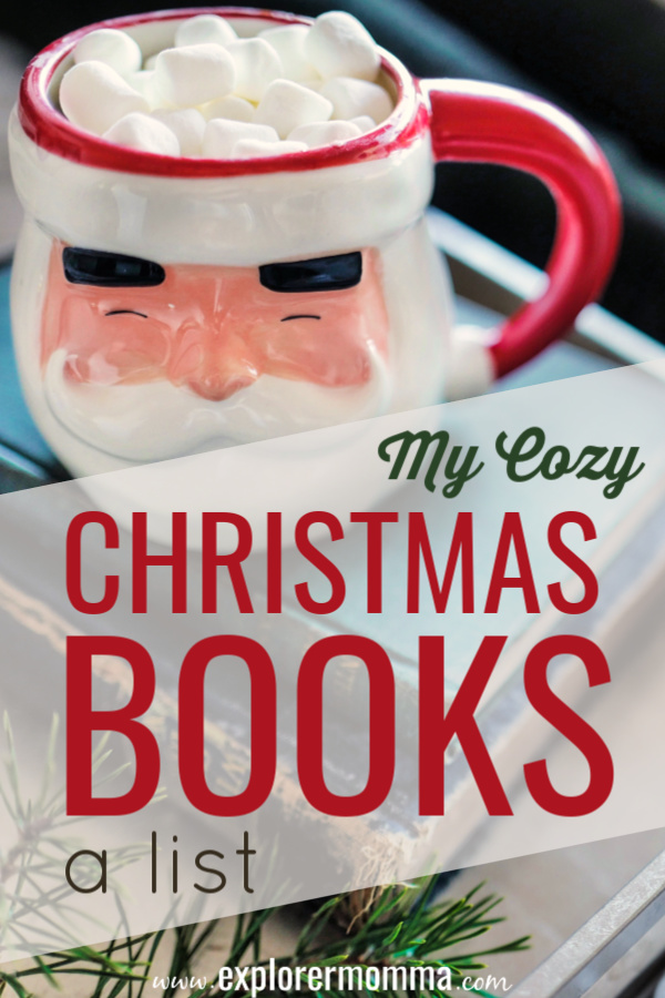 My Cozy Christmas Books. Need a few fun Christmas reads? I love to curl up by the fire with a good story at Christmas! Pick one today. #christmasbooks #christmasreads