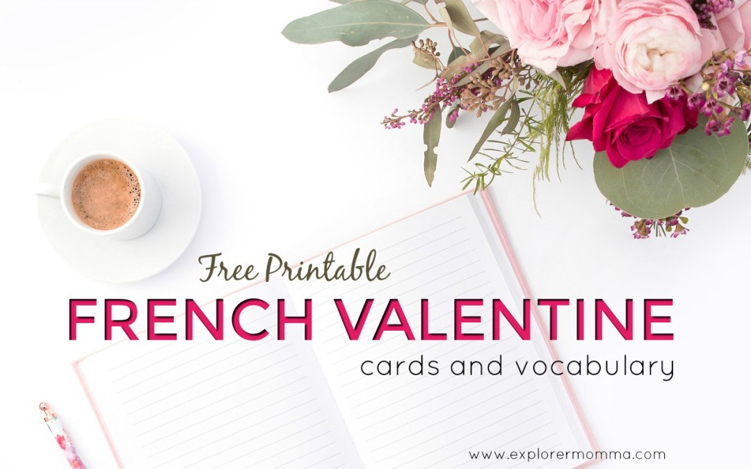 Free Printable French Valentine Cards