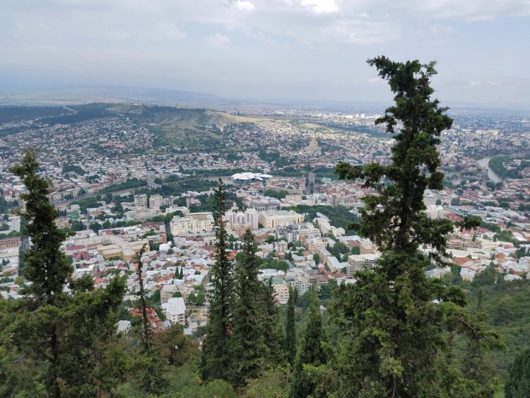 View overlooking Tbilisi from Mtatsminda