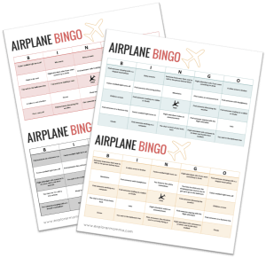 Airplane BINGO, kids airplane activities preview