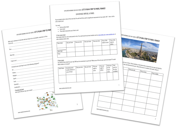 Let's Plan a Trip to Paris printable preview