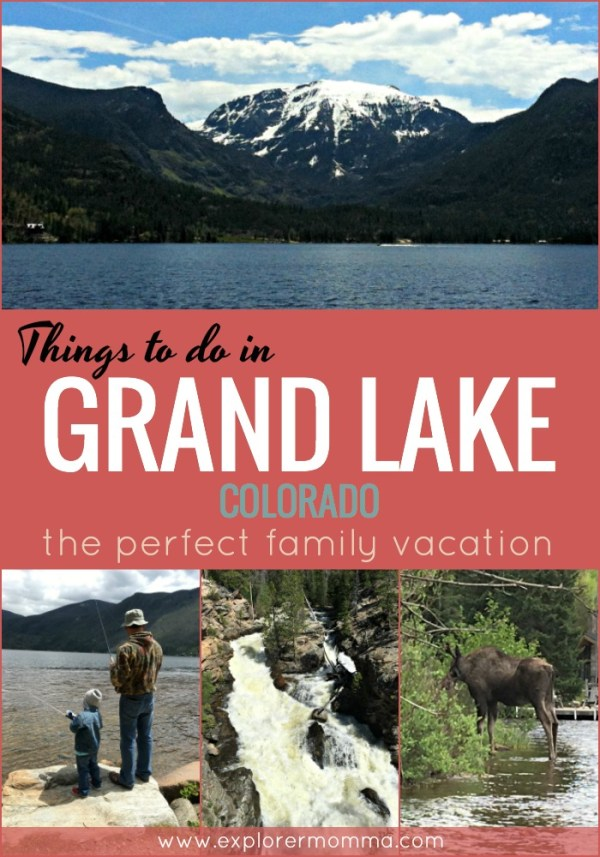 Things to do in Grand Lake Colorado for the perfect family vacation. Near Rocky Mountain National Park and perfect for hiking, fishing, kayaking, and playing! #coloradotravel #familytravel
