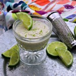 Coconut lime dessert mousse with lime and zester