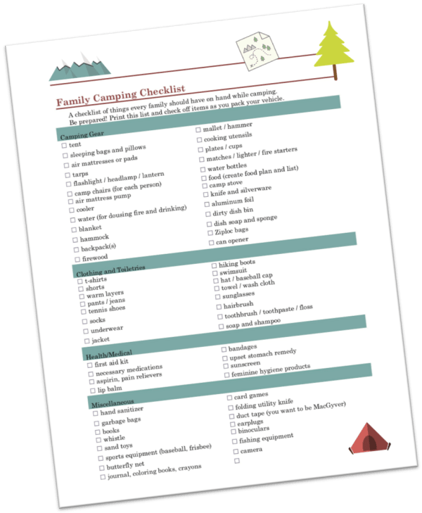 family camping checklist and must haves explorer momma