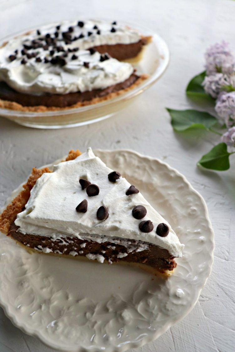 Piece of low carb chocolate pie