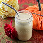 Keto pumpkin spice breakfast smoothie, square