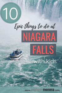 The perfect family vacation is Niagara Falls with kids. State Parks and family travel are the best! #operationusparks #everykidinapark #familytravel #explorermomma